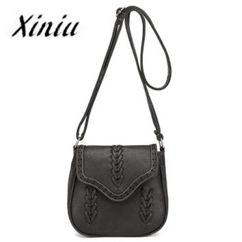 Xiniu Bags Women crossbody bag Hollow Out casual Fashion National Air Hollow Shoulder Bag ladies round Saddle