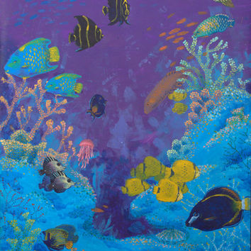 Coral dwellers, original acryic painting