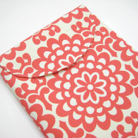 Red iPad Case, iPad Sleeve, iPad Cover, Red Mod Flower Print, Amy Butler Print, Ready to Ship
