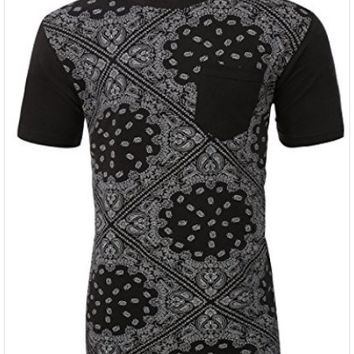 Men's Urban Bandana Print T-shirt