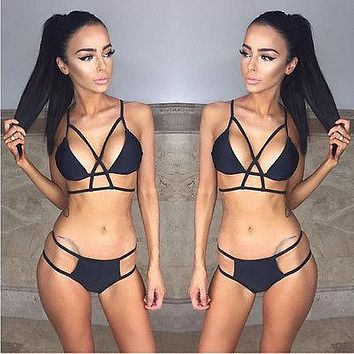 Womens Bikini Set Bandage Push up Padded Swimwear Swimsuit Bathing Beachwear Biquinis Feminino 2018 Sexy Brasileiro Conjunto