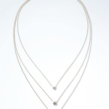 Delicate Mixed Shapes Built-In Necklace | Banana Republic