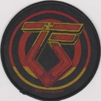 Twisted Sister Sew On Patch Round TS Logo