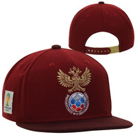 adidas Russia 2014 World Cup Snapback Hat - Red - http://www.shareasale.com/m-pr.cfm?merchantID=7124&userID=1042934&productID=540348560 / Russia