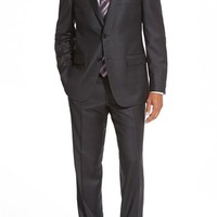 Di Milano Uomo Classic Fit Solid Wool Suit