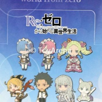 Good Smile Company GSC Re:Zero Rubber Strap Mascots Keychain Sealed Box of 7