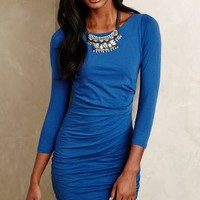 Ruched Jersey Sheath by Velvet by Graham and Spencer Blue