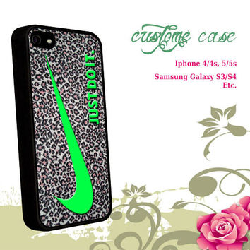 just do it leopard silver for iPhone 4/4S/5/5S/5C, Samsung Galaxy S3/S4, iPod Touch 4/5, htc One X/x+/S Case