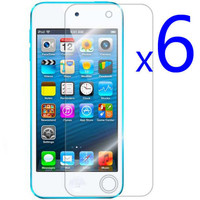 6X CLEAR Screen LCD Cover Protector Guard Film for ipod Touch 5 5g 5th Gen