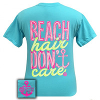 Girlie Girl Beach Hair Dont Care Anchor Comfort Colors T-Shirt