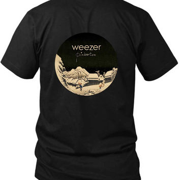 Weezer Pinkerton Cover Rounded Polygon 2 Sided Black Mens T Shirt