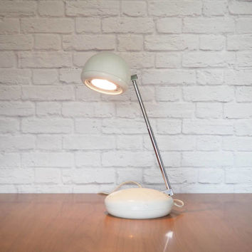 Retro Mod TENSOR Eyeball Lamp | Telescoping Desk Lamp, Task Light White