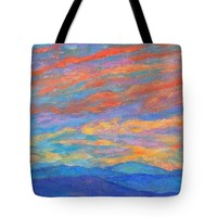 Color Ripples Over The Blue Ridge Tote Bag