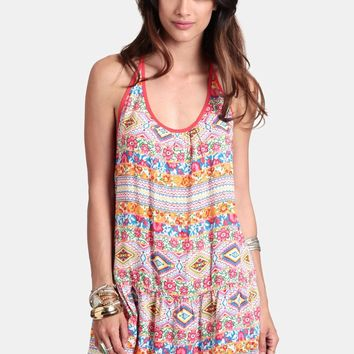City Of Belize Floral Tunic