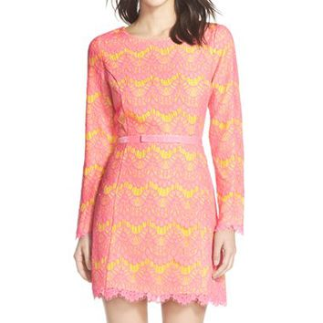 Women's French Connection 'Linea' Lace Fit & Flare Dress,