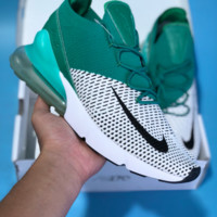 HCXX N449 Nike Air Max 270 Flyknit Sports Running Shoes Green White