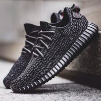 Adidas Yeezy Boost Women Men Casual Running Sports Shoes Sneakers Black I