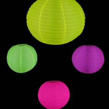 18NYL - 18in Blacklight Reactive Nylon Lantern