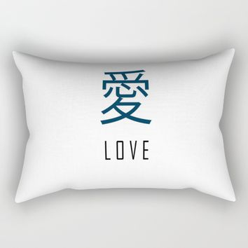 JapaneseLoveWord. Rectangular Pillow by MusyeeChan