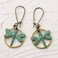 rustic Dragonfly earrings