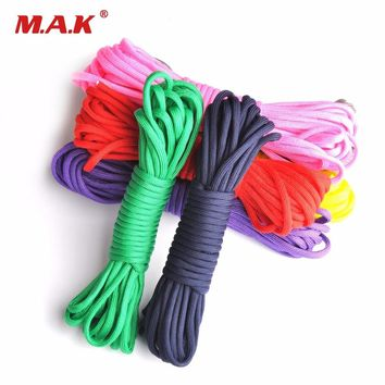 Outdor Climbing Paracord 550 Parachute Cord Lanyard Rope Mil Spec Type III 7 Stand Climbing Camping Survival Rope
