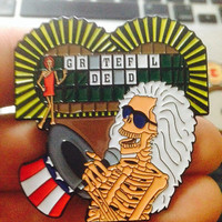 5 PACK Grateful dead double posted hat pin