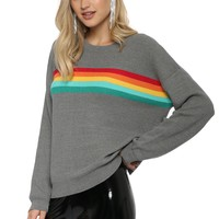 Gab & Kate Rainbow Panel Sweater