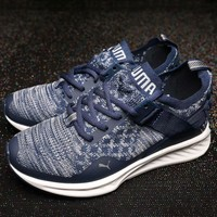 PUMA IGNITE 3 EVOKNIT cushioning knit flying line socks shoes F-AHXF