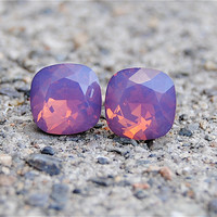 Mother day Super Sparklers Swarovski Crystal Earrings by MASHUGANA
