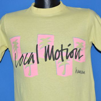 80s Local Motion Hawaii Neon Palm Trees t-shirt Small