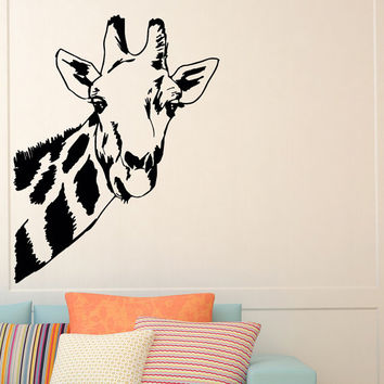 Giraffe Wall Decal Safari Jungle Wild Animals Wall Decals Vinyl Stickers  Living Room Bedroom Nursery Dorm