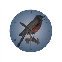 The Early Bird Catches The Worm Round Clock