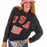 As Old As AM Radio USA Knit Sweater