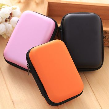Fashion Storage Bag Case Sundries Earphone Data Line Cable Key Coin Container Organizer Box Pure Candy Color Travel Storage Bag
