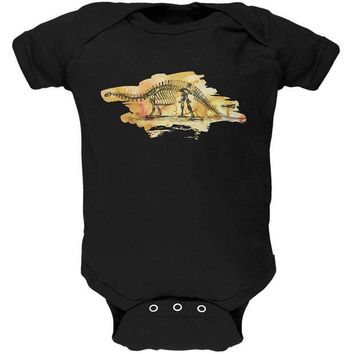 LMFCY8 Dinosaur Fossil Brontosaurus Soft Baby One Piece