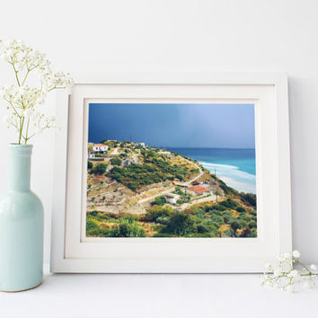 Greece digital download, travel photography, landscape printable, Samos after storm, fine art, Europe, ocean, sea water, home decor wall art