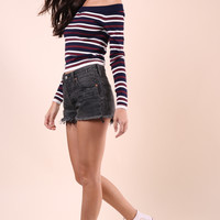 J.O.A Stripe Knit Top