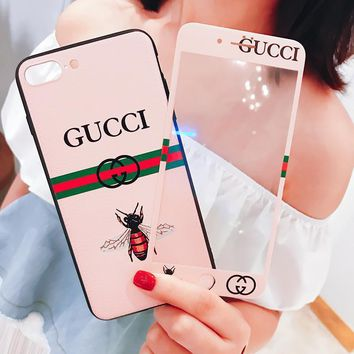 GUCCI Fashion Bee Print iPhone Phone Cover Case For iphone 6 6s 6plus 6s-plus 7 7plus