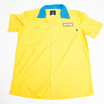 36dba252a6b9 FLOGGNAW MOTORS WORK SHIRT YELLOW – from Golfwang