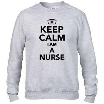 keep calm im a nurse Crewneck sweatshirt