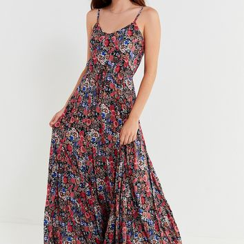 Auguste The Label Floral Drawstring Maxi Dress | Urban Outfitters