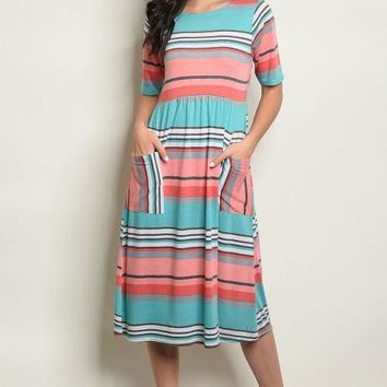 Liz Striped Dress