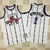 Men's Toronto Raptors Tracy McGrady Mitchell & Ness White 1998-99 Hardwood Classics Swingman Jersey - Best Deal Online
