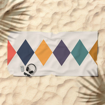 Shine Bright Like A Diamond Beach Towel by spaceandlines