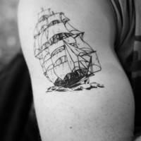 old ship temporary tattoo