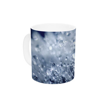 "Monika Strigel ""Dandelion Diamonds"" Navy Blue Ceramic Coffee Mug"