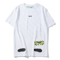 OFF Striped Short Sleeve T-Shirt