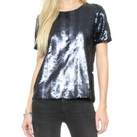 J.O.A. Sequin Fete Top