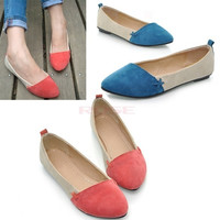 New Women Girl Shoes Ballet Low Heels Flat Loafers Casual Comfort 3 Color 7760 Women's shoes = 1745555588