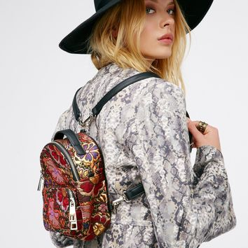 Free People Brocade Floral Mini Backpack